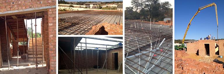 Suspended Reinforced Concrete Slab Construction