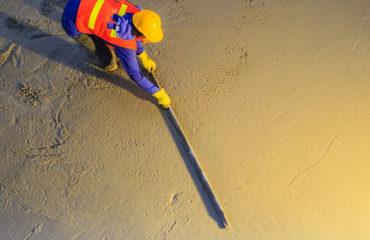 Concrete slab concrete raft