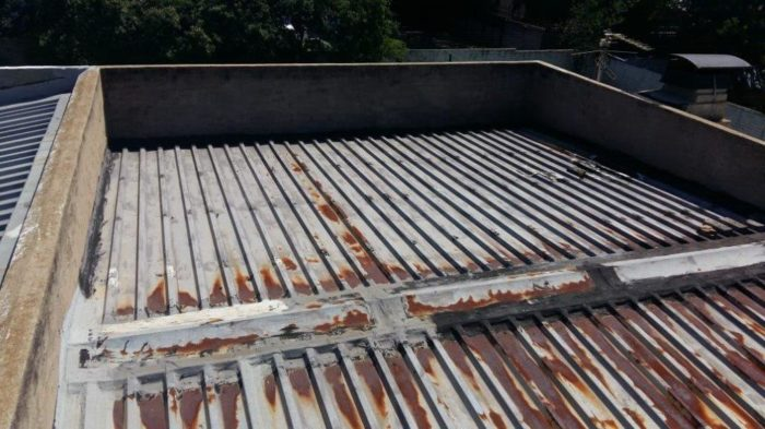 IBR roof sheeting in need of waterproofing