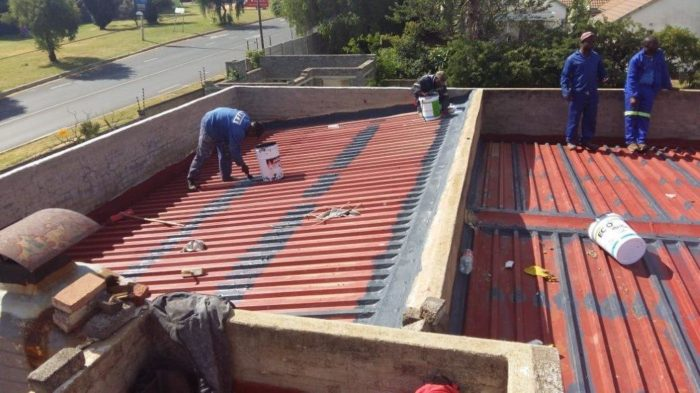 Repairing roof sheeting for waterproofing