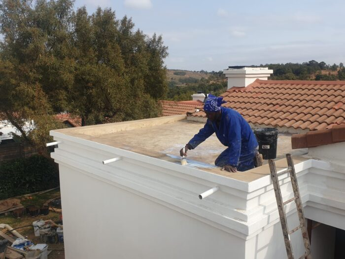 Concrete roof slab treated with GapSeal primer from Seal Extreme