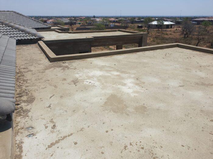 New concrete slab before waterproofing