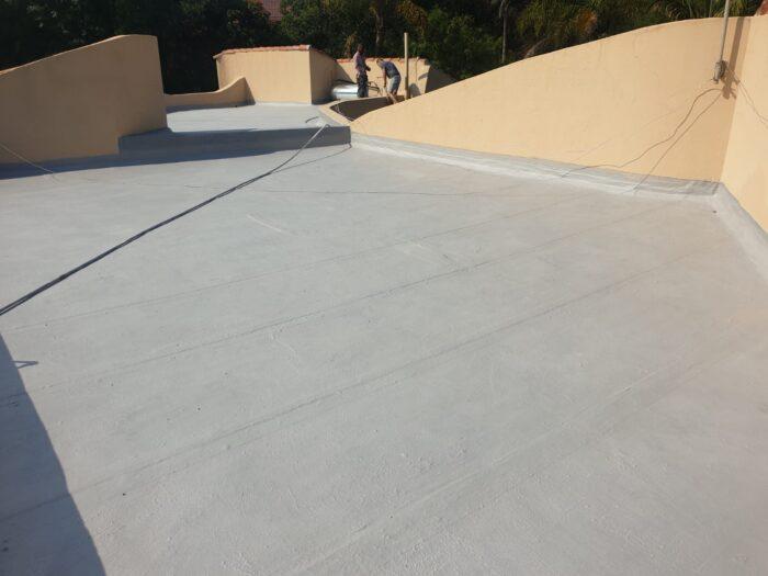 Residential concrete slab waterproofing