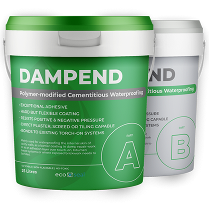 DampEnd - Fibre reinforced cementitious waterproof coating
