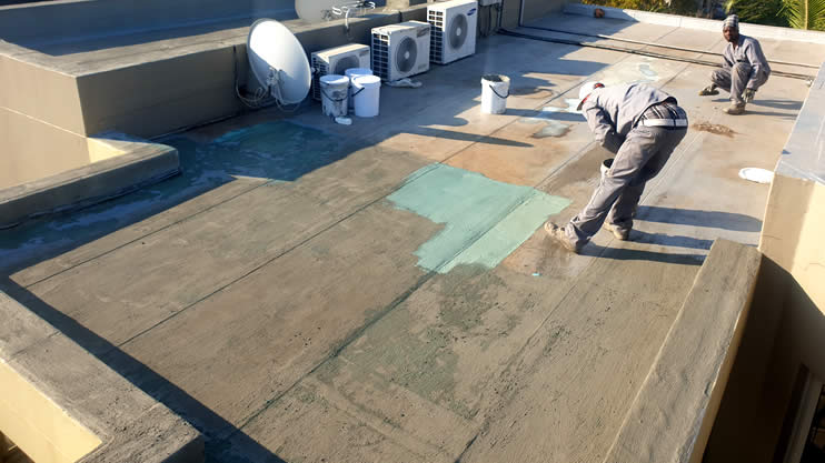 How do you maintain torch-on waterproofing