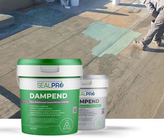 DampEnd - two part cementitious waterproof coating